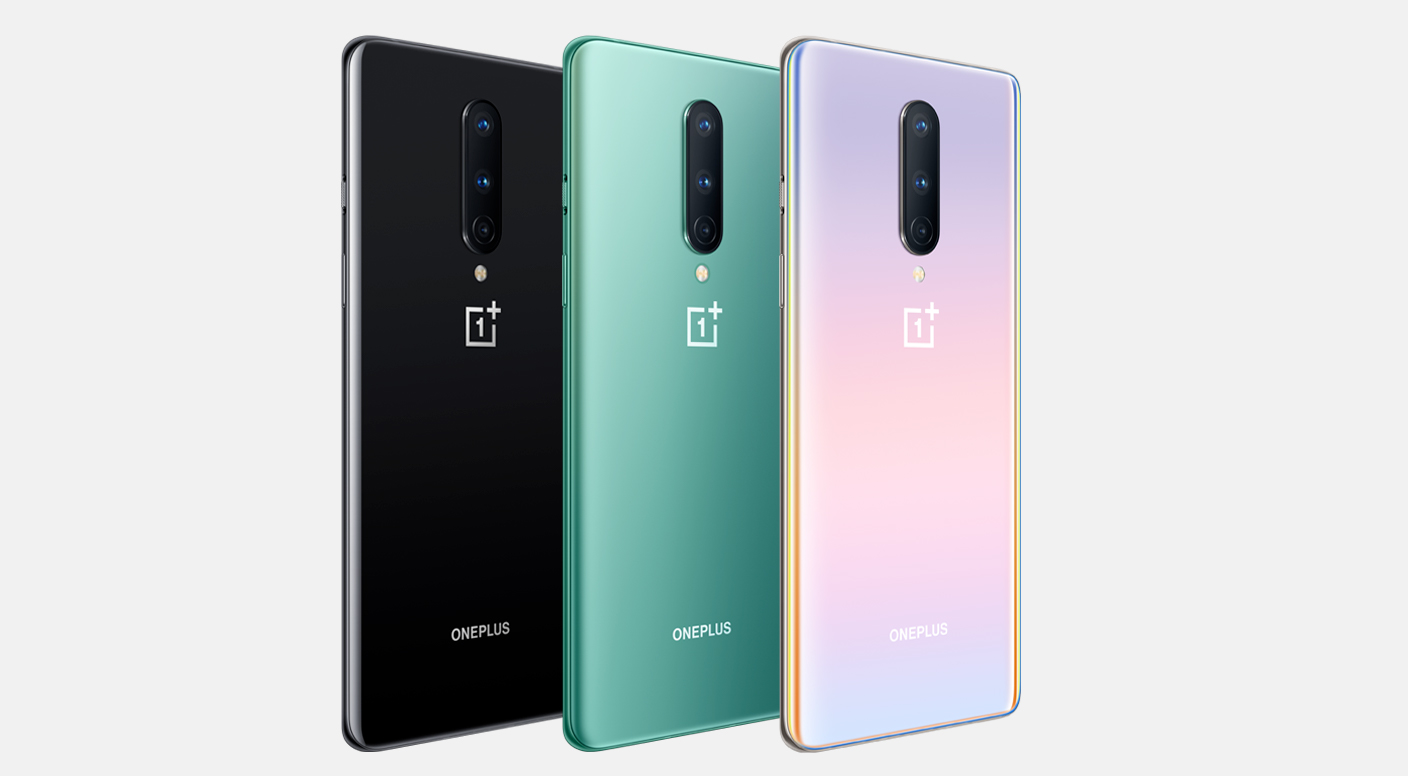 OnePlus 8: Onyx Black, Glacial Green, Interstellar Glow